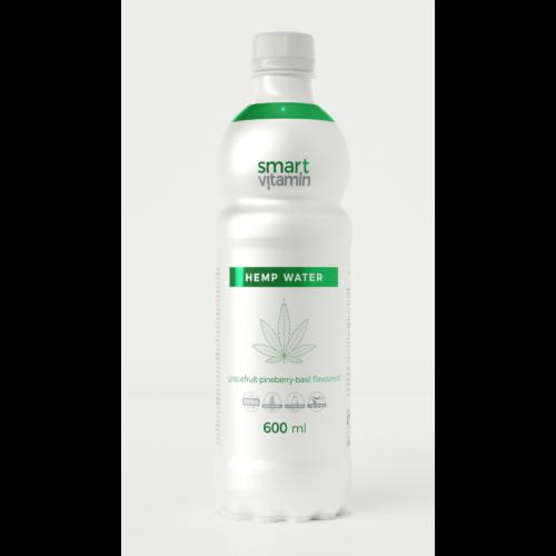 Smart Vitamin Hemp Water - Grapefruit-eper-bazsalikom 0,6 L